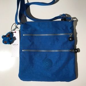 NWT Kipling Crossbody Messenger Bag Blue